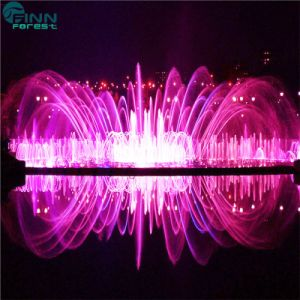 Outdoor Decorative Water Features Stainless Steel Music Dancing Swing Fountain