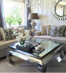 Modern Mirrored Coffee Table for Living Room Furniture