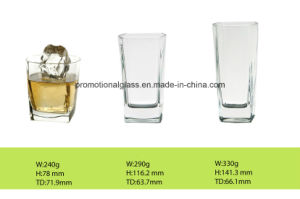 Whisky Glass Cup in Square Shaped Drinking Glass