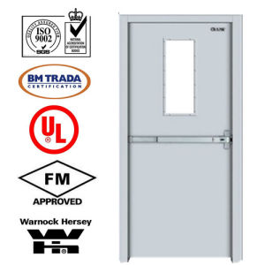 Steel Fire Door/ Fireproofing Steel Door/ Fireproof Door/with Vison Glass
