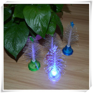 colorful fiber optic christmas tree night light vl15004