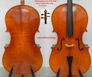 Master Cello! 4/4 Montagnana 1742 Cello Wide Body Model! Oil Varnish! Deep Tone Hand Made Cello! (RS-028)