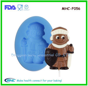 Silicone Santa Shape Mold for Chocolate, Lollipop, Buscuit
