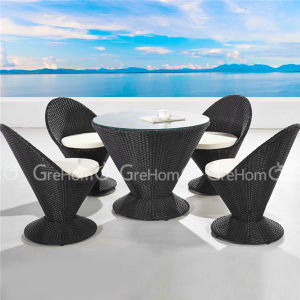 Coffee Shop PE Rattan Table Set Furniture for Garden