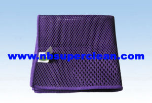 China High Absorption Microfiber Sandwich Shape Net Cleaning Cloth (CN3619) pictures & photos