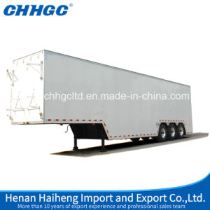 Aluminum Alloy Dry Van Semi Trailer for Cigarette or Other Bulk Cargos Transport