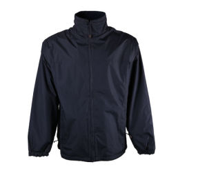 Custom Mens Navy Winter Quilted Thermal Parka Jacket for Worker pictures & photos