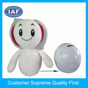 Cloth Dolls Plastic Coin Money Box for Children pictures & photos
