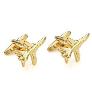 Golden Falcon Air Craft Plane Mens Cufflinks