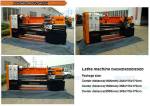 Horizontal Big Bore Lathe Machine (CH6240/6250/6260D) pictures & photos