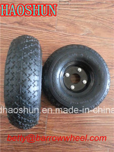 3.00-4 Pneumatic Rubber Wheel Hand Trolley Wheel pictures & photos