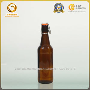 Swing Top 500ml Amber Beer Bottle (013) pictures & photos