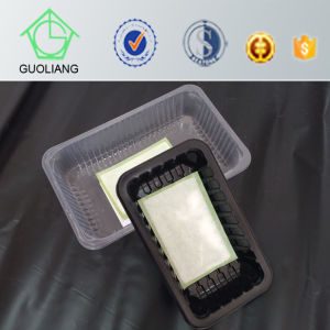 Food Industrial Use Disposable Plastic Meat Packing Boxes with Absorbent Pads pictures & photos