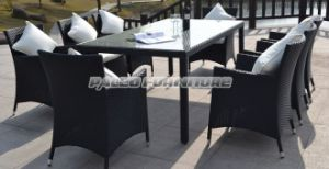 Garden Rattan Dining Table and Chair (PAD-004B)