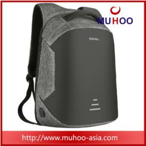 Grey Anti-Thief Computer Bag Laptop Backpack with USB Charging Port pictures & photos