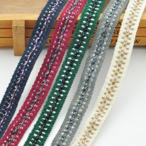 Fashion New Design Braided Tape with Beaded Trimming