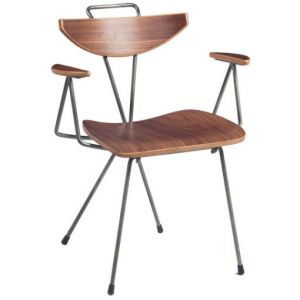Vintage Steel and Wood Cafe Chair