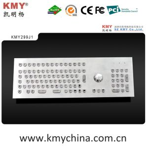 U Shape Keys Metal Computer Keyboard with Trackball (KMY299J-1) pictures & photos