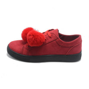 Ball Top New Design Student Red Casual Ladies Rubber Various Shoes pictures & photos