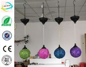 Metal Hanging Solar Light Ball for Graden and Home Decoration