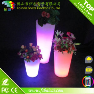 Battery Operated LED Plant Indoor Light Plastic Flower Pot