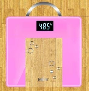 Tempered Glass Body Scale 3-180kg Square Type with Handle pictures & photos