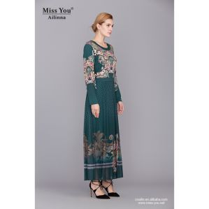 Miss You Ailinna 801824-1 Green Women Maxi Dress Muslim pictures & photos