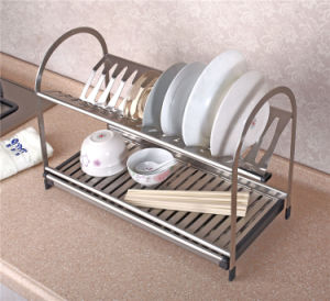 Stainless Steel Kitchenware Dish Holder Plate Drainer Rack (604) pictures & photos