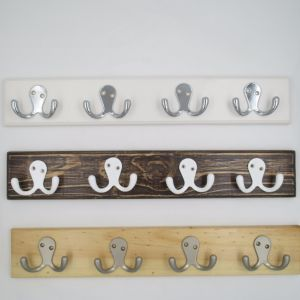 High-Grade Beautiful Clothes Hooks Wooden & Metal Row Hooks (ZH-7004)