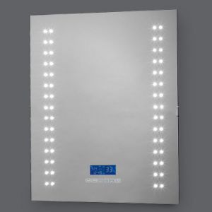 LED Lighted Bathroom Mirror Night Light Wall Clock Mirror & China LED Lighted Bathroom Mirror Night Light Wall Clock Mirror ...