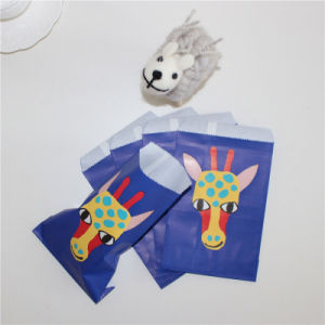 2017 New Design Blue Giraffe Printing Paper Treat Bag pictures & photos