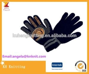 High Quality Knitting Gloves with PVC Pattern