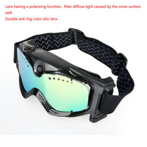 Ce Camera Skiing or Moto Goggles Sunglass HD Video Camera Snow Goggles pictures & photos