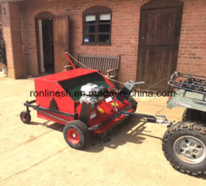 5.5HP Honda Engine Self-Propelled ATV/Quad/UTV/Tractor Tow Behind Sweeper/Collector/Paddock Cleaner/Grass Collector/Paddock Sweeper Horse Muck Manure Collector pictures & photos