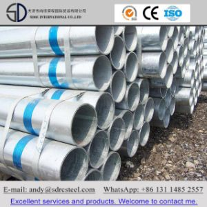 BS1387/ASTM A53 ERW Round Hot DIP Galvanized Steel Pipe pictures & photos
