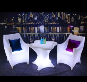 Ceu0026RoHS PE Plastic Color Changing LED Furniture With Infrared Remote/LED  Illuminated Chair