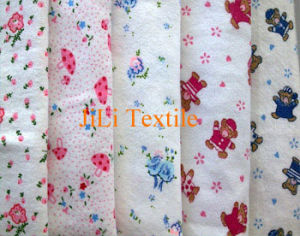 100%Cotton Polycotton White Dyed Printed Flannel Fabric