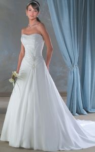 Beaded Wedding Dress and Wedding Gown(Bonny026)