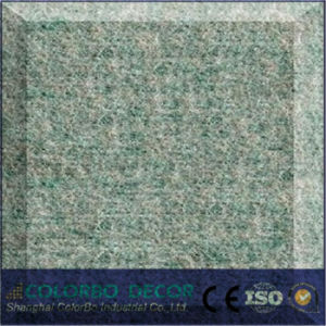 Blue Polyester Tile Board Fiber Acoustic Panel pictures & photos