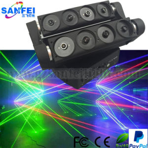 china red green blue 8 lends disco moving head laser beam spider