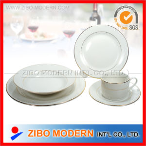 20PCS Porcelain / Ceramics Dinnerware with Gold Lines pictures & photos