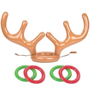 China Pvc Inflatable Reindeer Antler Toss Game Christmas Hat Antler Ring Toss Holiday Party Game Christmas Decoration China Inflatable Hat Ring And Inflatable Hat Ring Toss Price