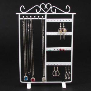 Metal Jewelry Necklace Earring Display Stand Rack Jewellery Holder For Panel