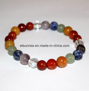 Fashion Semi Precious Stone Natural Crystal Assorted Gemstone Charming Bracelet pictures & photos
