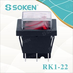 Soken Rk1-22 1X1X2n on off Waterproof Illuminated Double Rocker Switch pictures & photos