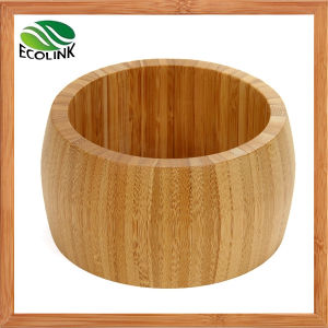 Round Wooden Bowl Natural Bamboo Salad Bowl Bamboo Bowl