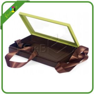 Hot Sale Fancy Clear Plastic Hinged Lid Chocolate Boxes pictures & photos