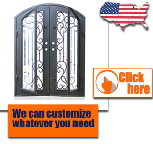 Cheap Price Metal Wrought Iron Door Glass pictures & photos