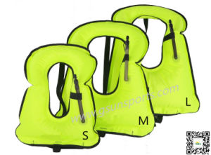 Adult Portable Inflatable Snorkeling Diving Vest for Water Safety