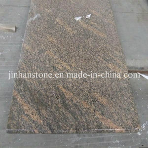 Polished Brazil Giallo California Granite Countertop Slab